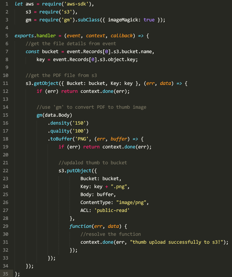 pdf-to-thumb lambda function